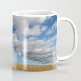 A dramatic Cloudy Sky over a Golden Field Coffee Mug