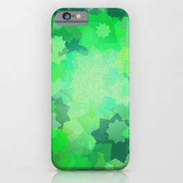Nine Pointed Stars - Green iPhone Case