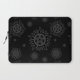 Anti Possession Pattern White Glow Laptop Sleeve