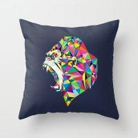 gorilla Throw Pillows featuring Gorilla by Narek Gyulumyan