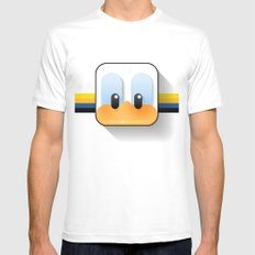 donald duck White Mens Fitted Tee MEDIUM