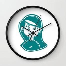 Smiling Girl Wall Clock