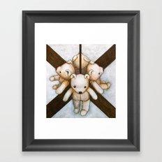 MIRROR BEAR Framed Art Print
