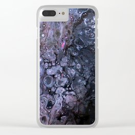 Pink Fire Clear iPhone Case