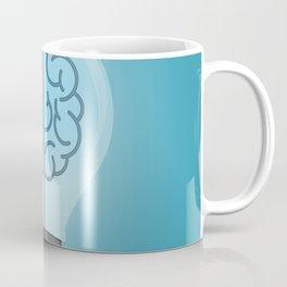 Bulb Brain Blue Coffee Mug
