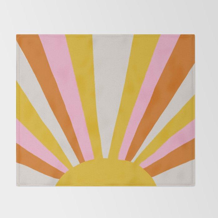 sunshine state of mind Throw Blanket