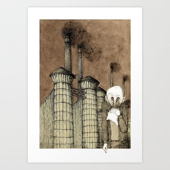 Making Acid Rain (Vintage colours)  Art Print