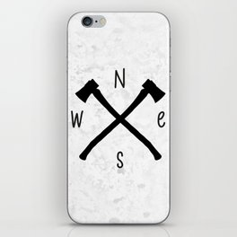 compass & axes iPhone Skin