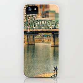 Lovers Under the Bridge iPhone Case