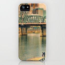 Lovers Under the Bridge iPhone Case