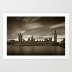 Houses of Parliament with Big Ben, London Art Print