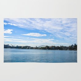 Sydney Harbour And Bridge Rug