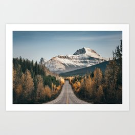 Falling into winter.  |  Canadian Rockies Art Print