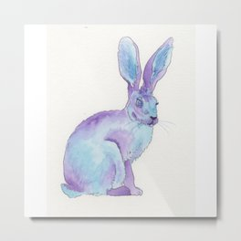 Jack Rabbit Purple Metal Print