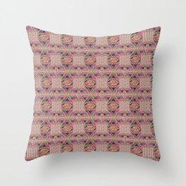 rajasthani slipper pattern Throw Pillow