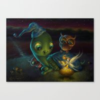 fairy tale Canvas Prints featuring Fairy Tale by Alicia Templin