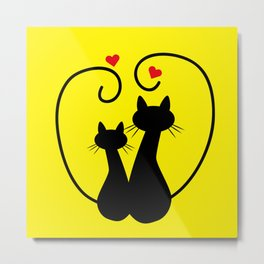 Valentine's Day Kittens Metal Print