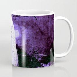 Art print: The Bald Eagle, the barbwire and the Blue flag Iris. Coffee Mug
