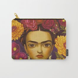 Frida Flowers Carry-All Pouch