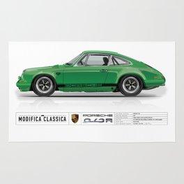 1967 Porsche 912R SIGNAL GREEN Rug