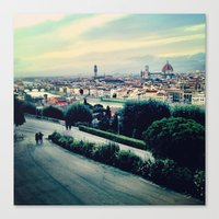 florence Canvas Prints featuring Florence by Rachel Weissman