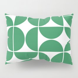 Mid Century Modern Geometric 04 Green Pillow Sham