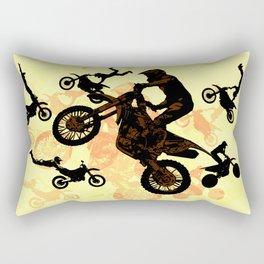 Extreme Motocross Stunts Rectangular Pillow