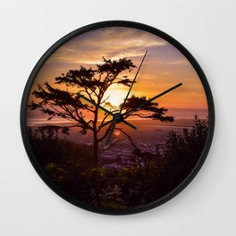Kalaloch Beach Sunset Wall Clock