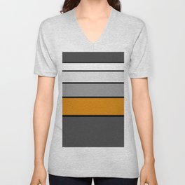 GREYSCALE STRIPES Unisex V-Neck