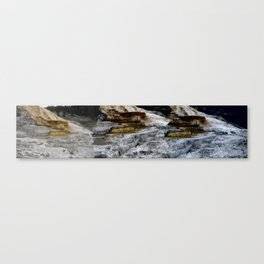 This is a panoramic picture of Minerva Terraces in Yellowstone. Canvas Print