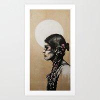 native Art Prints featuring Native by Mo Baretta