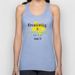 Creativity is contagious Unisex Tank Top