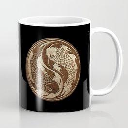 Yin Yang Koi Fish with Rough Texture Effect Coffee Mug