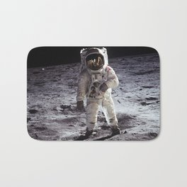 Apollo 11 - Iconic Buzz Aldrin On The Moon Bath Mat