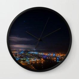 Dana Point at Night Wall Clock