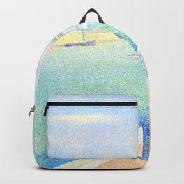 "Georges Seurat ""The Channel of Gravelines, Petit Fort Philippe"" Backpack"