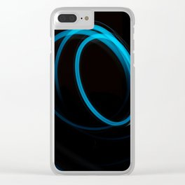 blue cercles Clear iPhone Case