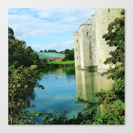 Castle and it's Moat Canvas Print