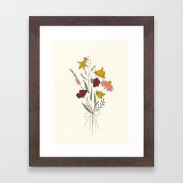 Wildflowers Bouquet Framed Art Print