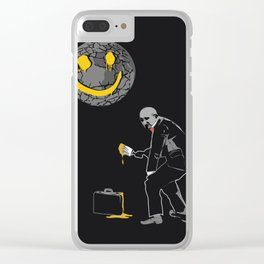 "The World is ""Fine"" - Anti Capitalism Artwork Clear iPhone Case"