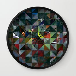 Colour Crystallization #2 Wall Clock
