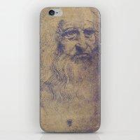 da vinci iPhone & iPod Skins featuring Da Vinci by LK Winwright