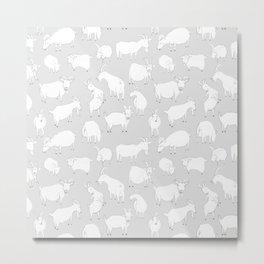 Charity fundraiser - Grey Goats Metal Print