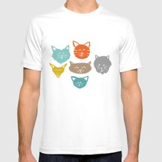 Cats (cats) White MEDIUM Mens Fitted Tee