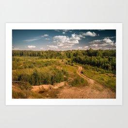 Russian landscapes 1 Art Print