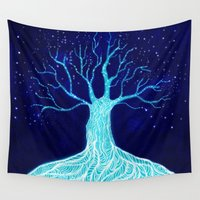 frozen Wall Tapestries featuring Frozen by Nancy Woland