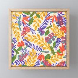Autumn Plants on white  Framed Mini Art Print