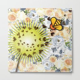 In the Garden - Dandelion Metal Print