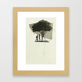 (Down By The) Family Tree   Collage Framed Art Print