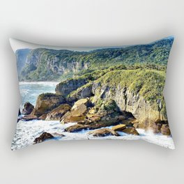 Coastal View in Punakaiki Rectangular Pillow
